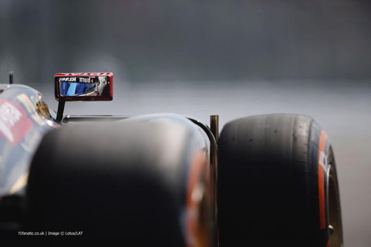 Suzuka Circuit, Suzuka, Japan. Friday 3 October 2014.Romain Grosjean, Lotus E22 Renault.World Copyright: Glenn Dunbar/Lotus F1.ref: Digital Image _X0W8483