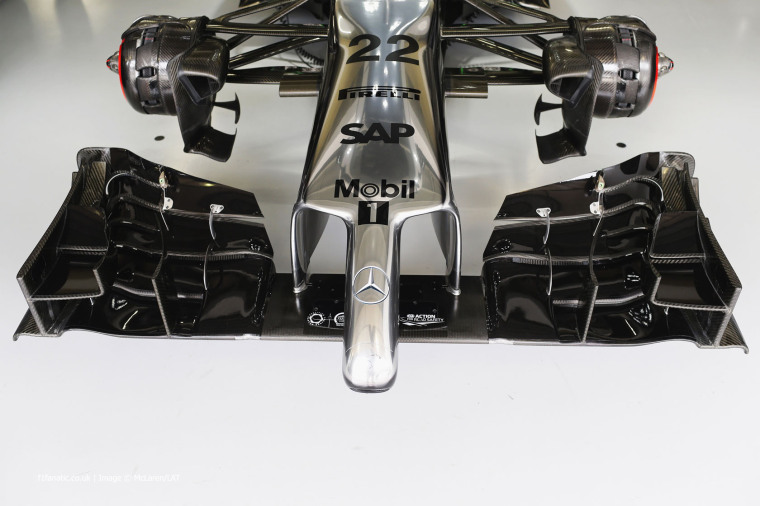 The nose of Jenson Button's car.