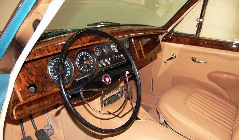 1960 Jaguar MK II Dash from Drivers Seat