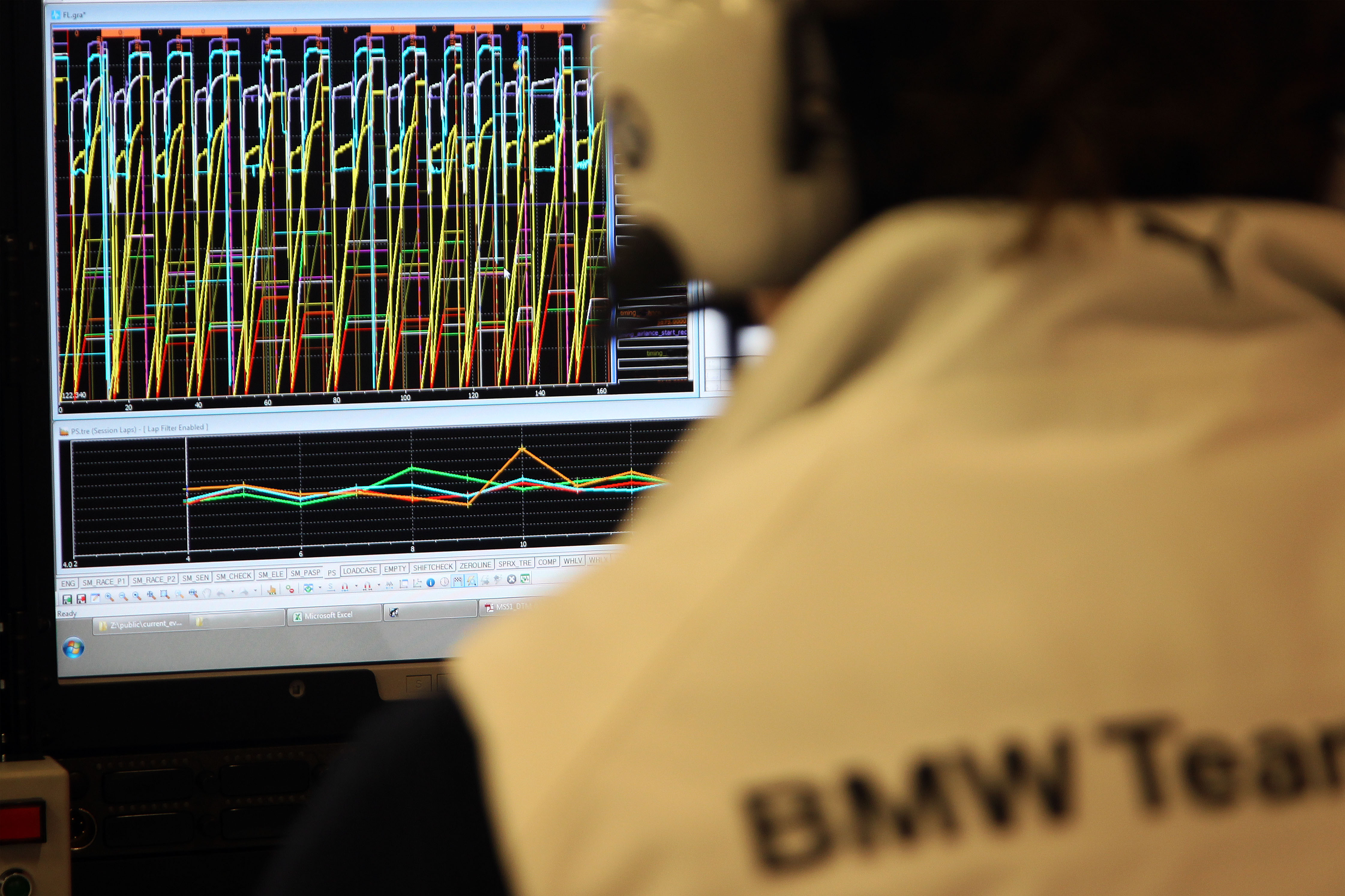 Barcelona (ES) 29th March 2013. BMW Motorsport, Telemetry analist. This image is copyright free for editorial use © BMW AG (03/2013).